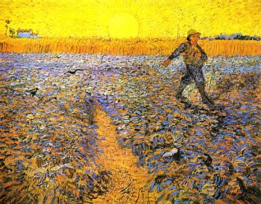 Sower at Sunset by Vincent van Gogh